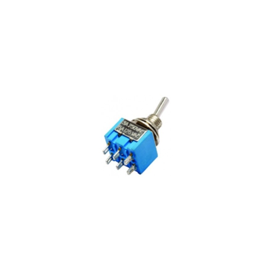 CHAVE ALAVANCA ON-OFF-ON (DP6T)