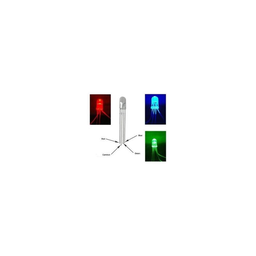 LED RGB 4T (ANODO COMUM - 5mm)