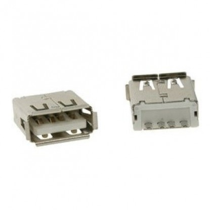 CONECTOR USB FEMEA TIPO A (180º - PCB)